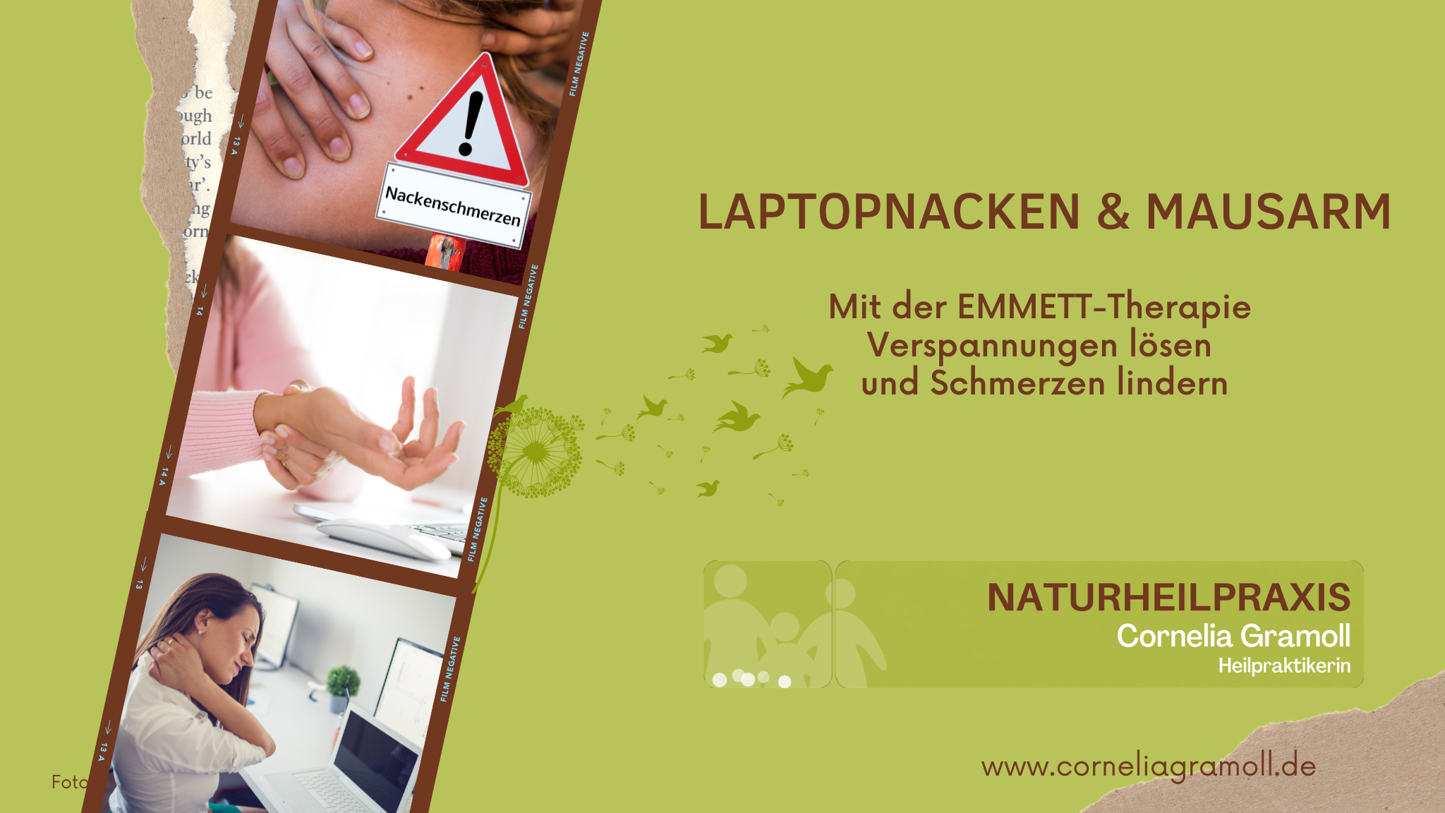 Laptopnacken und Mausarm EMMETT-Therapie